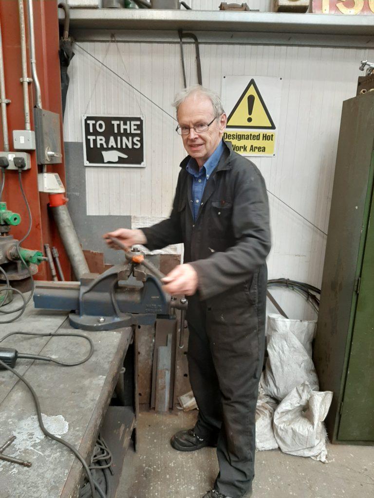 John Dixon with his die nut