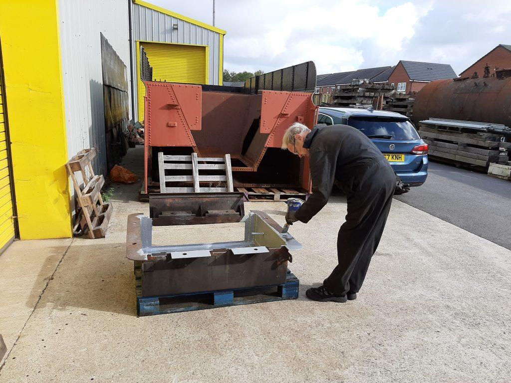 John Dixon painting FR 20's ashpan