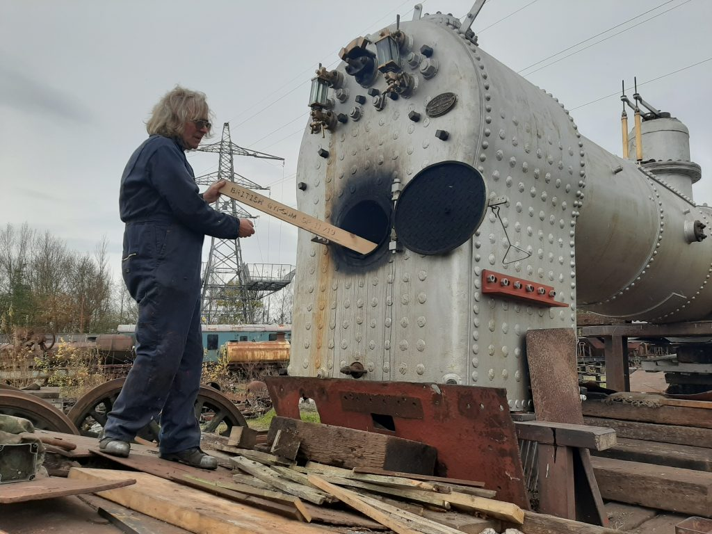 Ade feeding FR 20's firebox during the test steaming on Wednesday, 11th.