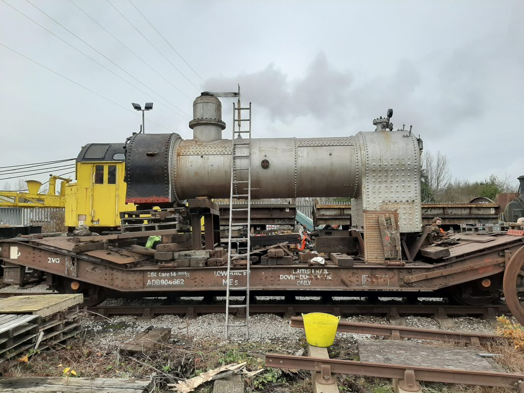 Blowing off for the boiler surveyor