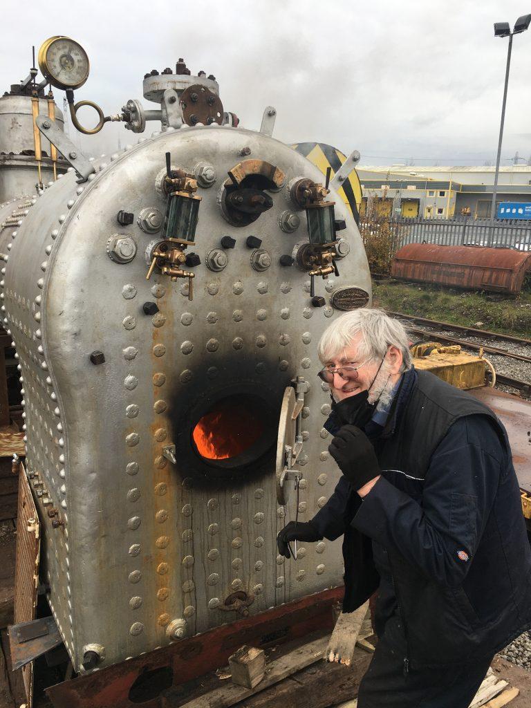 Alan at work
