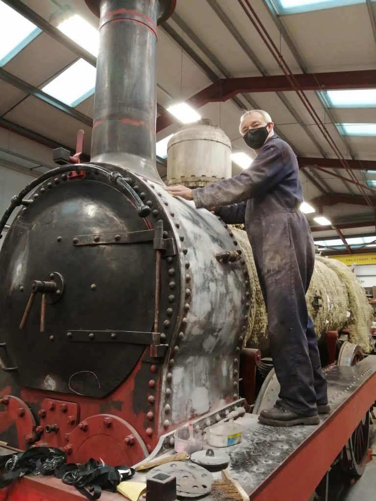 Tim getting there with the smokebox preparations