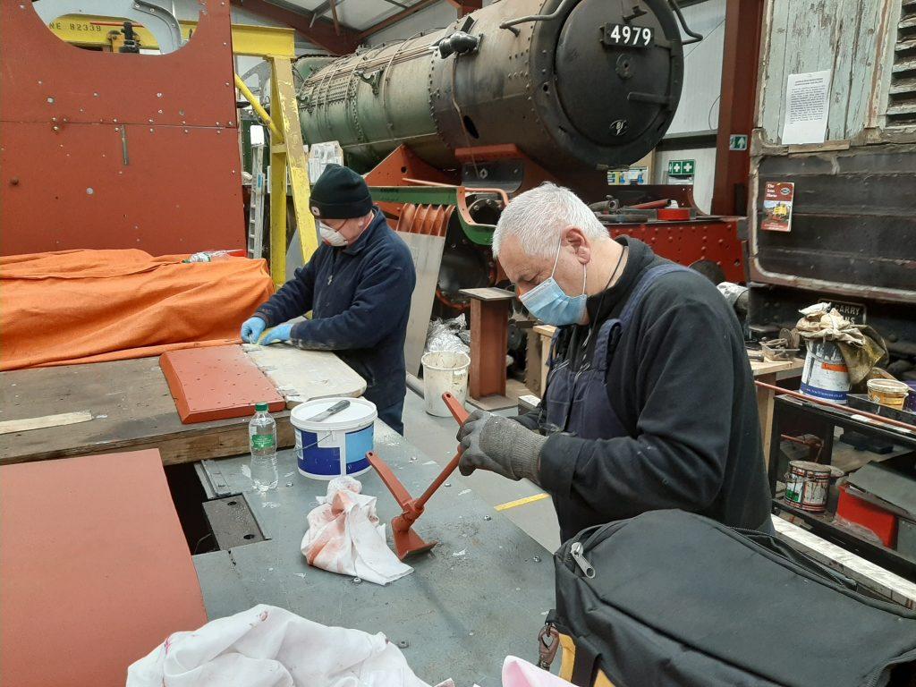 Paul Newton and John Davis working on Fluff