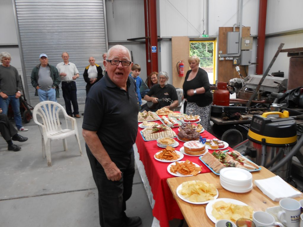 Tom with his 90th birthday spread