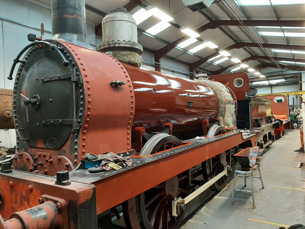 FR 20 with boiler cladding plates fitted and painted