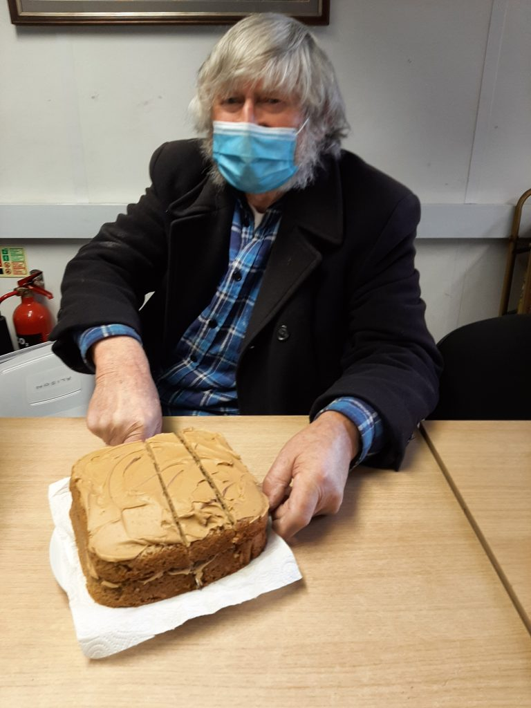 Alan with his cake