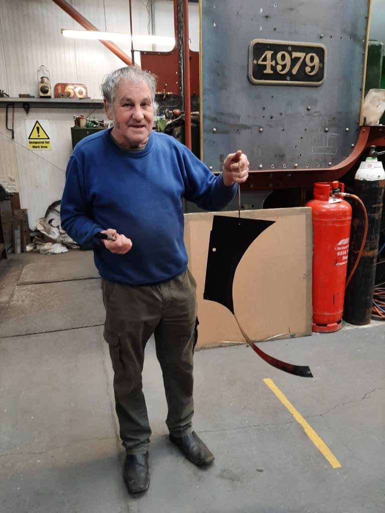 Keith with a new piece of cladding for 4979