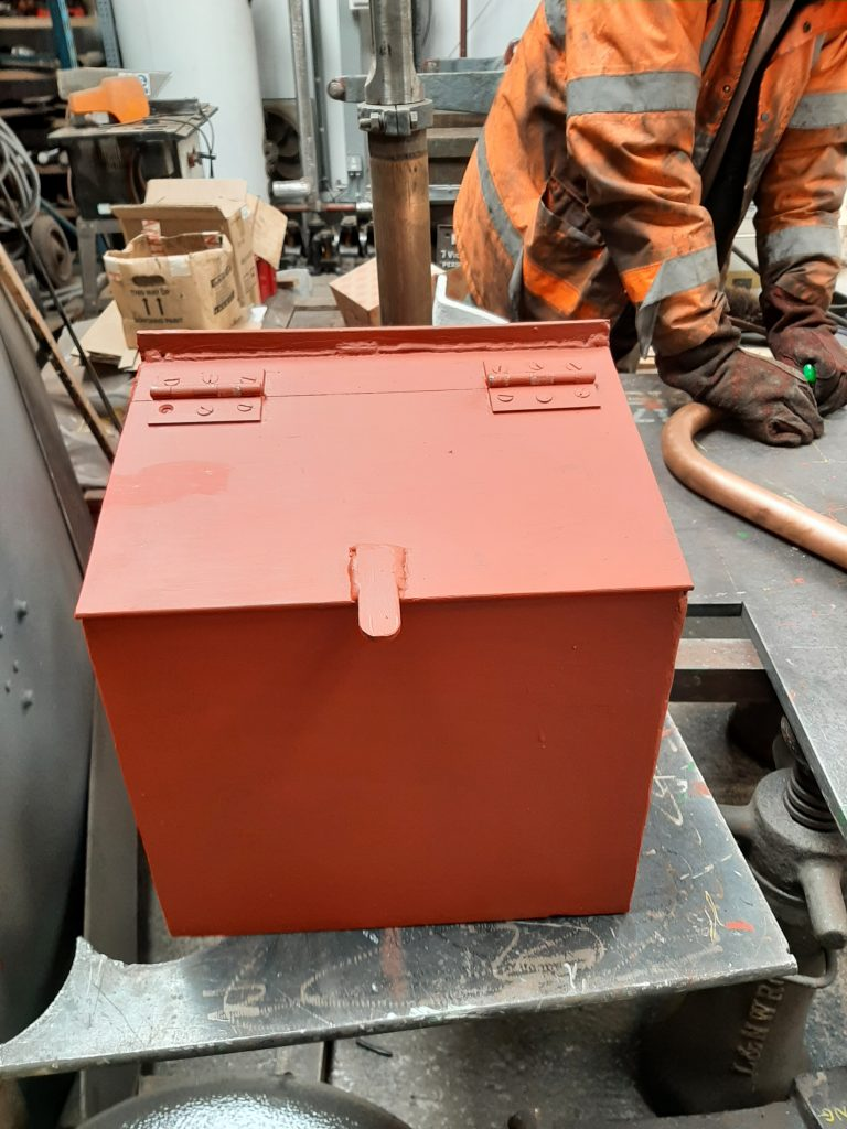 New fire box for the water crane