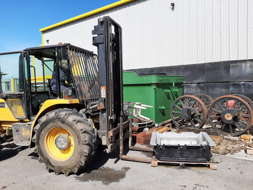 Ade with the fork lift and ash pan