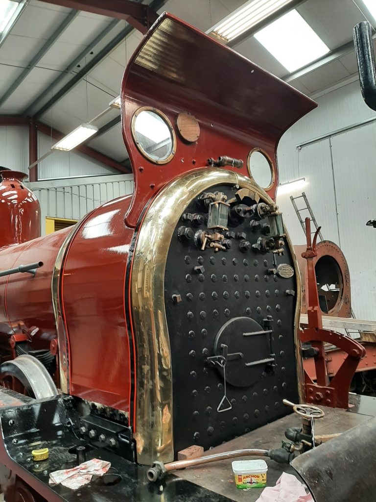 The brasswork fitted