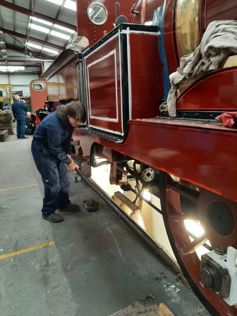 Matthew at work moving FR 20 wih a pinch bar