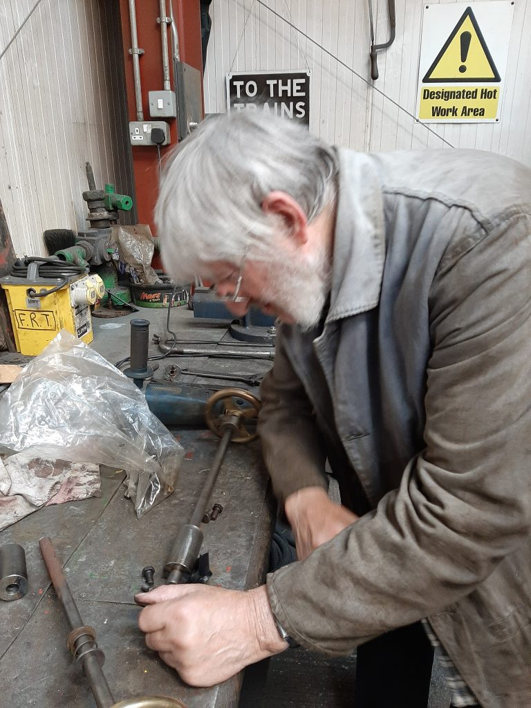 Alan puzzling over the injector steam valve handles
