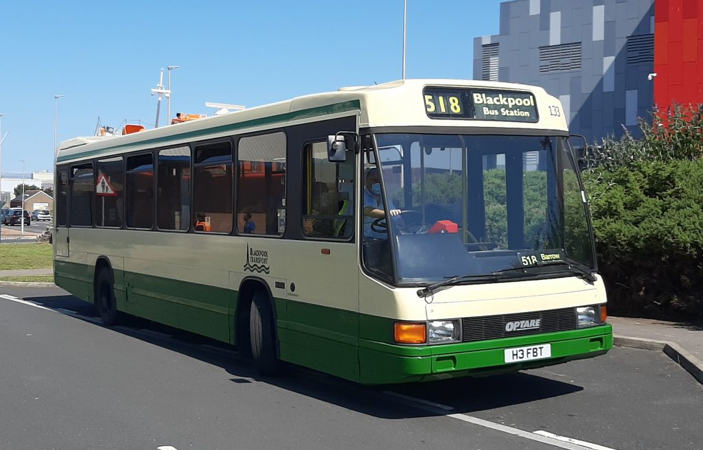 One of the preserved buses operating the free bus service