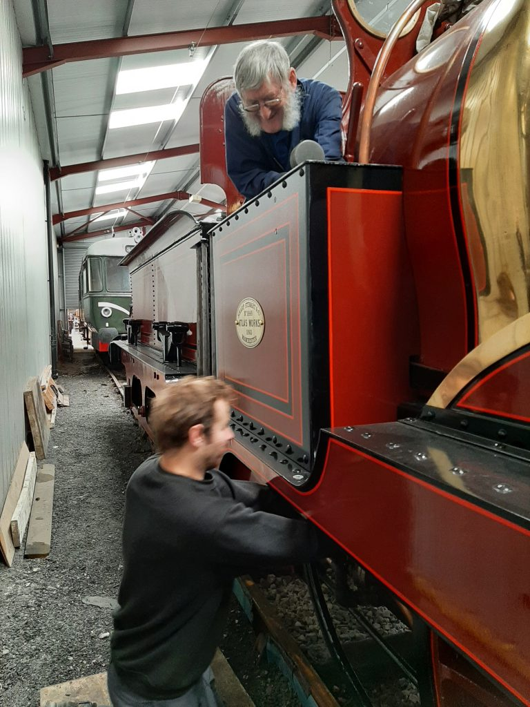 Sam and Alan replace the repaired injector steam pipe on FR 20