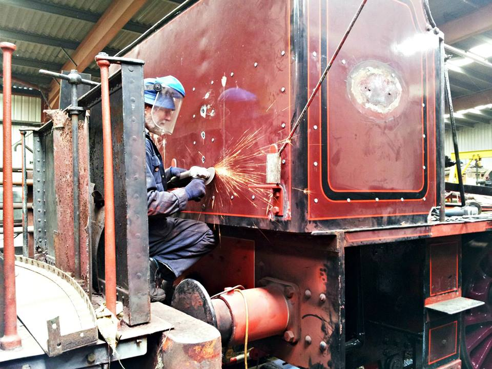 Sparks fly as Roger Benbow works on Cumbria's bunker