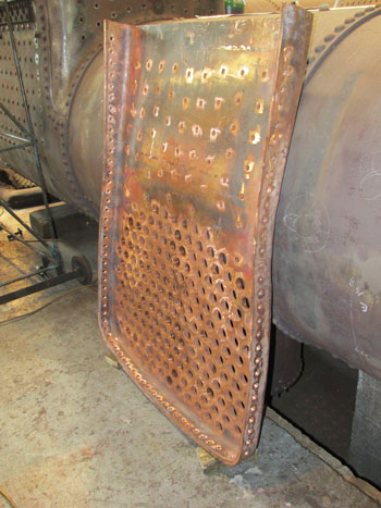 Cumbria's completed firebox tubeplate