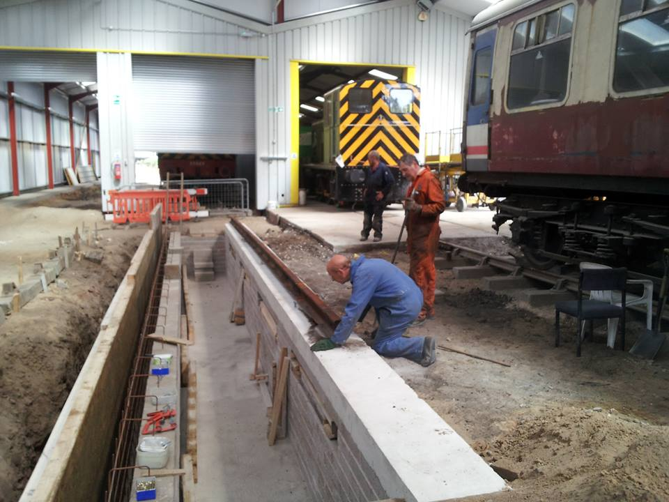 The first section of rail is in...