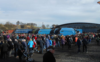 Crowds swarm round Locomotion on Saturday