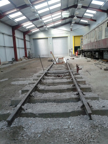 Lay more track, so we can resume the concreting obsession creating a path alongside it..!