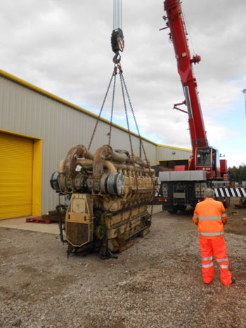 The engine for replica 10000 leaves Preston