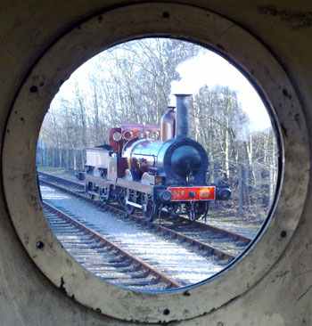 "Seen from the footplate of ""John Howe"""