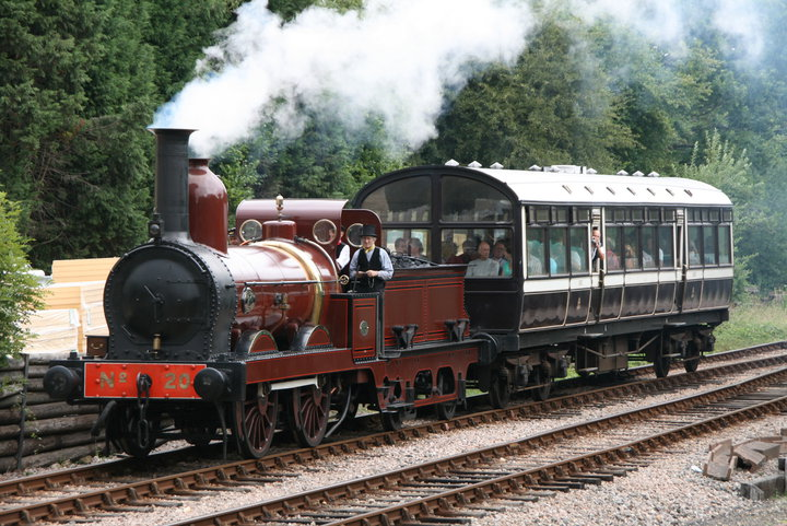 FR20 became the first engine to haul trains on part of the Bluebell Railway's East Grinstead extension