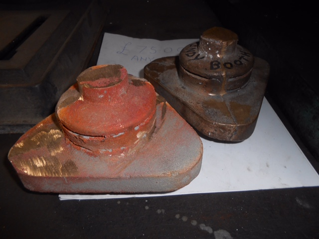 Two snifting valve castings for Wootton Hall