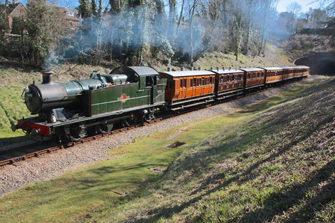 Steve Lee's photo shows 5643 on the vintage stock at the Bluebell Railway back in March
