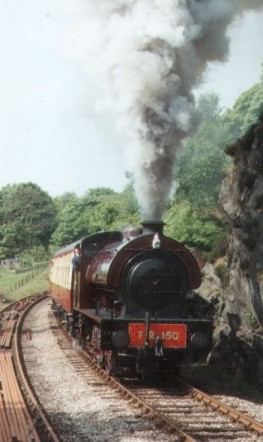 """Cumbria"" shows typical character as it climbs the fearsome Backbarrow bank on the Lakeside and Haverthwaite railway."