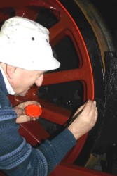 FRT Member Alan Johnstone lining out the wheels