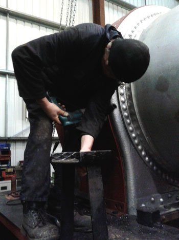 And progress on drilling the new smokebox
