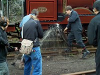 Stand back - FR Number 20's boiler is drained prior to its annual examination