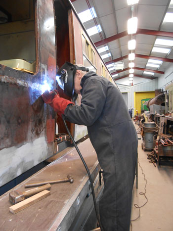 Yet more welding for John on the RMB