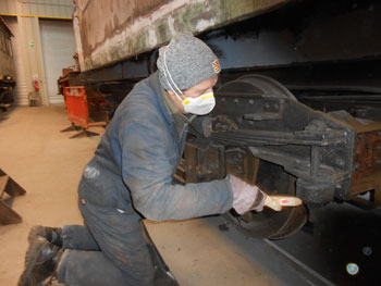 Mike working on the RMB bogie