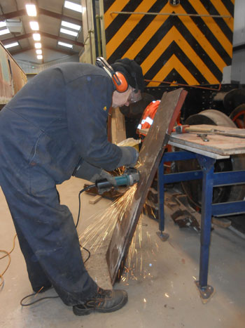 John rescues some Z section steel for use on the RMB