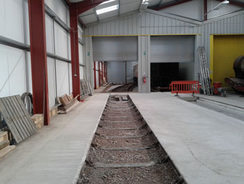 Road 4 fully concreted in the heated part of the shed